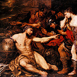 часть 2 -- European art Европейская живопись - Giovanni Battista Langetti Archimedes with Allegorical Figures of War and Peace