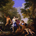 часть 2 -- European art Европейская живопись - Filippo Lauri A Bacchanal offering various goods to a statue of Pan 46299 172