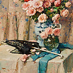 часть 2 -- European art Европейская живопись - Fernand TOUSSAINT Still Life of Flowers 32160 617