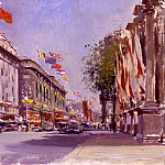 часть 2 -- European art Европейская живопись - Edward Seago Oxford Street from Marble Arch June 2nd 1953