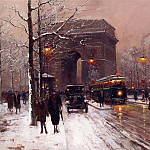 часть 2 -- European art Европейская живопись - Edouard Cortes Arc de Triomphe Paris Winter