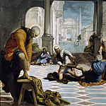 Tintoretto, Jacopo Robusti -- El Lavatorio, Part 5 Prado Museum