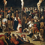 Caulery, Louis de -- La Crucifixión, Part 5 Prado Museum