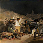 Masterpieces of the Prado Museum - Goya y Lucientes, Francisco de - The 3rd of May 1808 in Madrid, the executions on Principe Pio Hill
