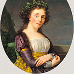 J. Paul Getty Museum - Фабр Франсуа-Ксавье (Монпелье 1766-1837) - Мари-Луиз Жубер (78х61 см) 1787