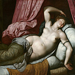 J. Paul Getty Museum - Jacob de Backer (Antwerp ok1545, ok1595) - Paris in the bedroom of Elena