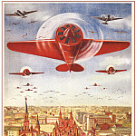 Soviet Posters - Long live the mighty aviation of the country of socialism! (Dobrovolsky V.)