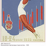 Soviet Posters - All-Union Olympics of Students July 18-24, 1935 Moscow (Nemukhin A.)
