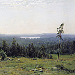 часть 1 - Russian and soviet artists Русские и советские художники - Лесные дали 1884 холст масло 113х164 см