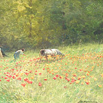 часть 4 -- European art Европейская живопись - Maurice HAGEMANS Poppies in the field 116299 617