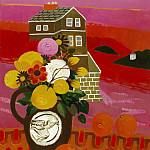 часть 4 -- European art Европейская живопись - Mary Fedden Flowers in a landscape 98280 20