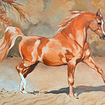 часть 4 -- European art Европейская живопись - Peter Upton Showing the Flag Trotting Chestnut Stallion 106479 3606