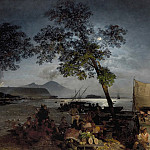 Oswald Achenbach Moonlit Scene of the Bay of Naples 36732 184, Oswald Achenbach