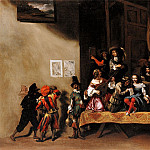 Michelangelo Cerquozzi called Michelangelo delle Battaglie The Rehearsal or A Scene from the Commedia dellArte 16209 203, Michelangelo Cerquozzi