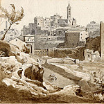 часть 4 -- European art Европейская живопись - Ludwig Gruner View of Viterbo from the Porta Faule 1837 122587 1124