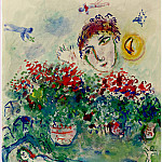 Marc CHAGALL Bouquet et nu 40788 1146, Marc Chagall