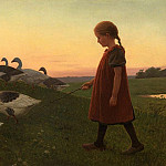 часть 4 -- European art Европейская живопись - Poul Steffensen Young Girl with Geese 37537 121