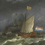 часть 4 -- European art Европейская живопись - LUDOLPH BACKHUYSEN A States Yacht on the IJ at Amsterdam 32008 316