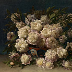 часть 4 -- European art Европейская живопись - Louis VERBOECKHOVEN A Bouquet of Peonies 90040 121