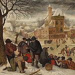 часть 4 -- European art Европейская живопись - Pieter Brueghel The Younger Winter landscape with skaters 30302 20