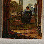 часть 4 -- European art Европейская живопись - Ludwig Emil Grimm Mourning Girl at the Cemetery 78939 1124