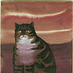 часть 4 -- European art Европейская живопись - Mary Fedden A tabby cat 98159 20