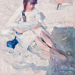 часть 4 -- European art Европейская живопись - Maurice WAGEMANS Woman with Child on the Beach 32126 617