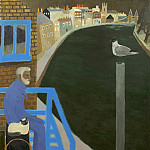 часть 4 -- European art Европейская живопись - Mary Fedden Julian by the River Thames 98299 20