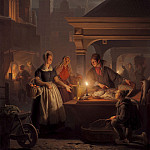 часть 4 -- European art Европейская живопись - Petrus van Schendel The Fish Market 100039 20