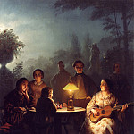 часть 4 -- European art Европейская живопись - Petrus van Schendel A Summer Evening by Lamp and by Moonlight 12251 2426