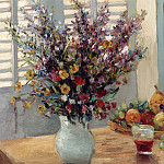 часть 4 -- European art Европейская живопись - Marcel Dyf A Vase of Flowers & Fruit on a Table 11996 2426