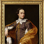 часть 4 -- European art Европейская живопись - POMPEO GIROLAMO BATONI Portrait of Sir Charles Watson 1ST Bt half length in Van Dyck costume 83039 316