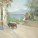часть 4 -- European art Европейская живопись - Paul HERMANUS Lady with mules on terrace 37736 617