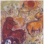 Marc CHAGALL Le village jaune 41079 1146, Marc Chagall