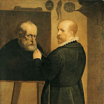 часть 4 -- European art Европейская живопись - Luca Cambiaso The Artist Painting His Father 16058 203