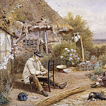 часть 4 -- European art Европейская живопись - Myles Birket Foster The Old Chairmender 28286 20