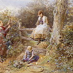 часть 4 -- European art Европейская живопись - Myles Birket Foster The Blackberry Gatherers 28285 20