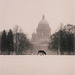 часть 4 -- European art Европейская живопись - Michael Kenna Cold Dog on Decembrist Square St Petersburg Russia 1999 40645 184