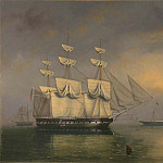 часть 4 -- European art Европейская живопись - Philip John Ouless The Royal Yacht Fairy with Queen Victoria on board 99660 20