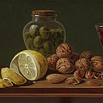 часть 4 -- European art Европейская живопись - Miguel Parra Still life with Walnuts a jar and wine glass 99699 20