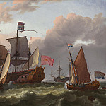часть 4 - европейского искусства Европейская живопись - Ludolf Backhuisen The Amsterdam off Hellevoetsluis in honour of the Glorious Revolution of William 111 and the City of Amsterdam 27960 20