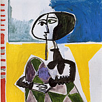 Pablo PICASSO Femme accroupie 81379 1146, Пабло Пикассо