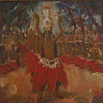 часть 4 -- European art Европейская живопись - Paul Daxhelet Balinese dancers Canvas 99 x 99 cm 16132 118