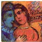 часть 4 -- European art Европейская живопись - Marc CHAGALL Le couple au cirque 40671 1146