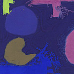часть 4 -- European art Европейская живопись - Patrick Heron Three Violets with Green and Brown 98720 20