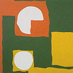 часть 4 -- European art Европейская живопись - Patrick Heron Orange Yellow Dull Green and White August 1965 98699 20