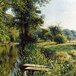часть 4 -- European art Европейская живопись - Peder Mork Monsted Reflections of Spring 12174 2426