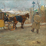 часть 4 -- European art Европейская живопись - LГ©on CARRE A Parisian taxicab 90021 121