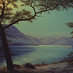 часть 4 -- European art Европейская живопись - Nicholas Stephen Phillips Moonlight Over Lake Ullswater 29445 2426