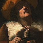 часть 4 -- European art Европейская живопись - MATTIA PRETI called IL CAVALIERE CALABRESE A Study of a Young man wearing a brown cloak and a straw hat 38534 316